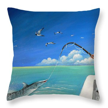 The Great Catch 1 Throw Pillow