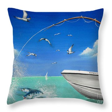 The Great Catch 2 Throw Pillow