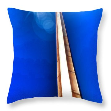 The Great Cross Of St. Augustine - Mission Nombre De Dios Throw Pillow