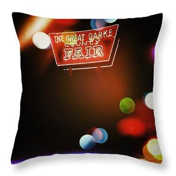The Great Darke County Fair Throw Pillow