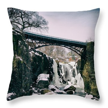 The Great Falls Of Paterson Throw Pillow
