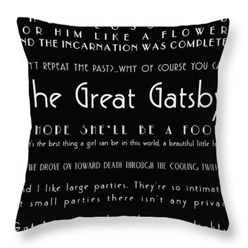 The Great Gatsby Quotes Throw Pillow
