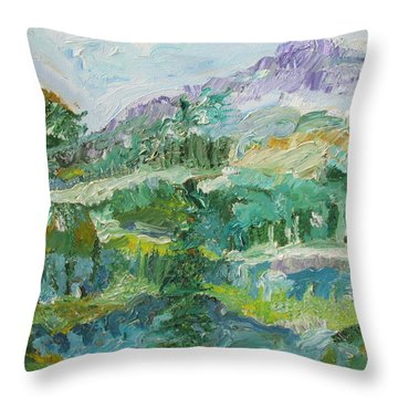 The Great Land Throw Pillow