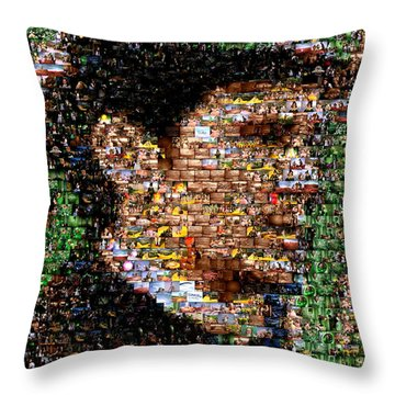 The Great Powerful Mosaic Throw Pillow by Paul Van Scott