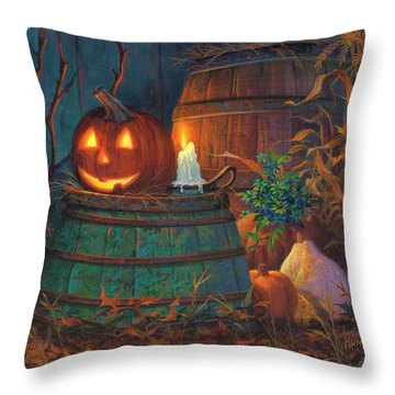 The Great Pumpkin Throw Pillow by Michael Humphries