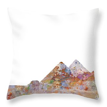 The Great Pyramids Colorsplash Throw Pillow by Aimee Stewart