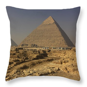 The Great Pyramids Of Giza Egypt  Throw Pillow by Ivan Pendjakov