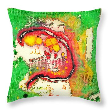 Throw Pillow featuring the painting The Great Question by Dan Redmon