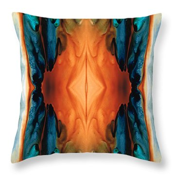 The Great Spirit - Abstract Art By Sharon Cummings Throw Pillow by Sharon Cummings