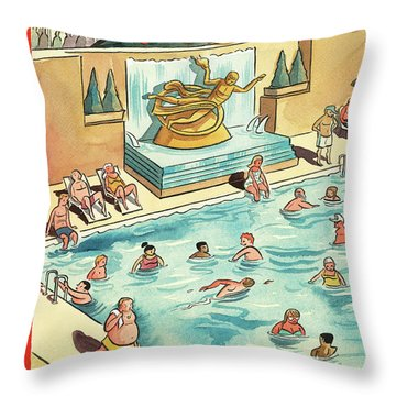 The Great Thaw Throw Pillow
