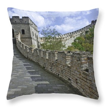 The Great Wall Of China At Mutianyu 1 Throw Pillow