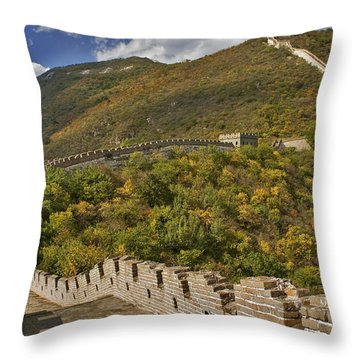 The Great Wall Of China At Mutianyu 2 Throw Pillow