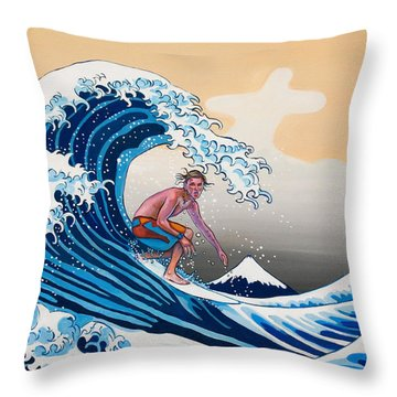 The Great Wave Amadeus Series Throw Pillow by Dominique Amendola