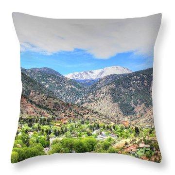 The Great White Shining Mountain Throw Pillow