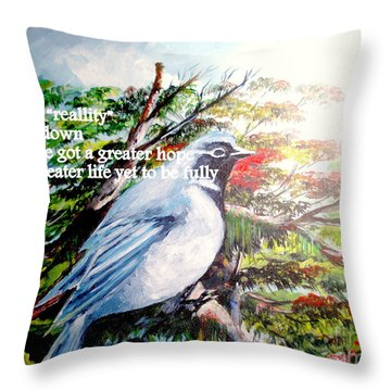 The Greater Hope And Life Throw Pillow