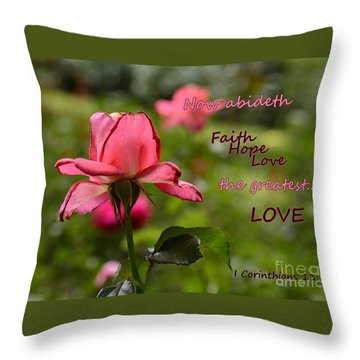 The Greatest Love Throw Pillow