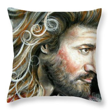 The Greatest Man In The World Throw Pillow by Patrice Torrillo
