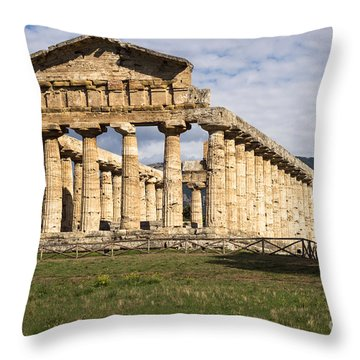 The Greek Temple Of Athena Throw Pillow