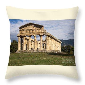 The Greek Temple Of Athena Throw Pillow