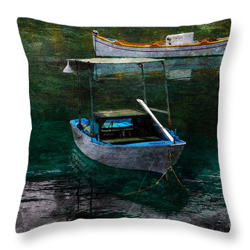 The Greek Way Throw Pillow by Randi Grace Nilsberg
