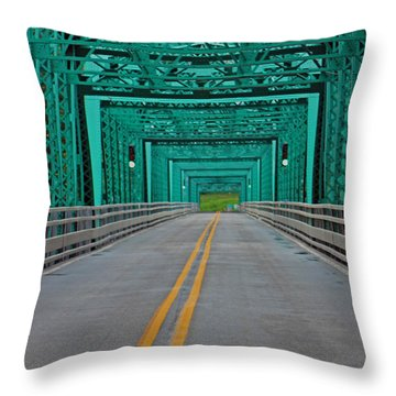 The Green Bridge Throw Pillow
