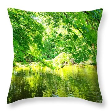 The Green Mirrored Cove Throw Pillow