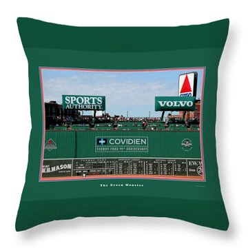 The Green Monster Fenway Park Throw Pillow