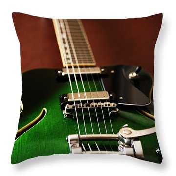 The Green One Throw Pillow by Karol Livote