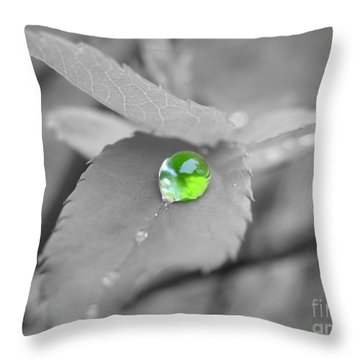 The Green Pearl Throw Pillow