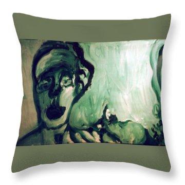 The Green Queen Throw Pillow