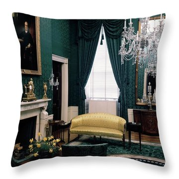 The Green Room In The White House Throw Pillow