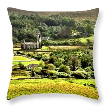 Throw Pillow featuring the photograph The Green Valley Of Poisoned Glen by Charlie and Norma Brock