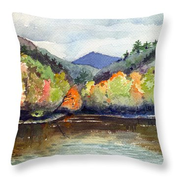 The Greenbriar River Throw Pillow by Katherine Miller