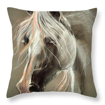 The Grey Horse Soft Pastel Throw Pillow