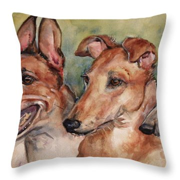 The Greyhounds Throw Pillow