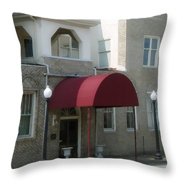 The Greystone Hotel Throw Pillow