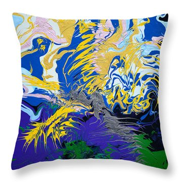The Grinch's Thunder Throw Pillow by Donna Blackhall