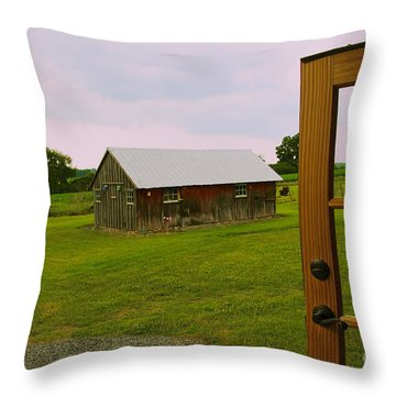 Throw Pillow featuring the photograph The Grounds by William Norton
