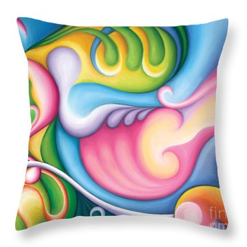 The Groundswell Of Spring Throw Pillow by Tiffany Davis-Rustam