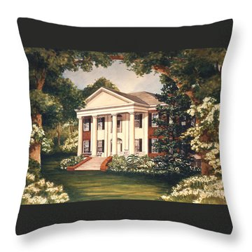 The Grove Tallahassee Florida Throw Pillow by Audrey Peaty