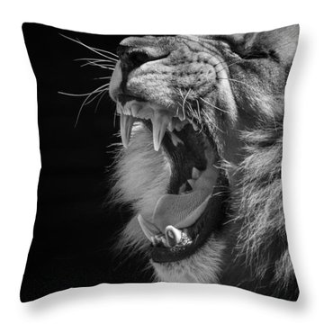 The Growl Throw Pillow