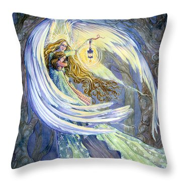 The Guardian Throw Pillow by Sara Burrier