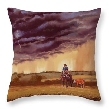 The Guardian Throw Pillow by Tanya Provines