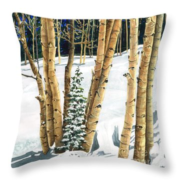 The Guardians Throw Pillow by Barbara Jewell