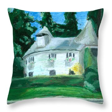 The Guest House Throw Pillow