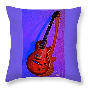 The Guitar After Party Throw Pillow