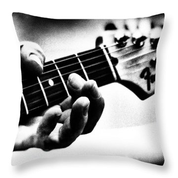 The Guitar Throw Pillow by Bob Orsillo