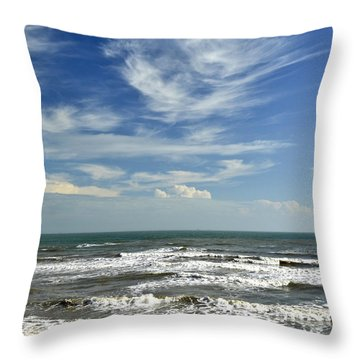 The Gulf Of Mexico From Galveston Throw Pillow