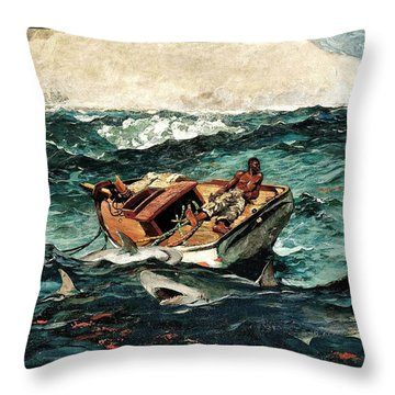The Gulf Stream Throw Pillow by Roberto Prusso
