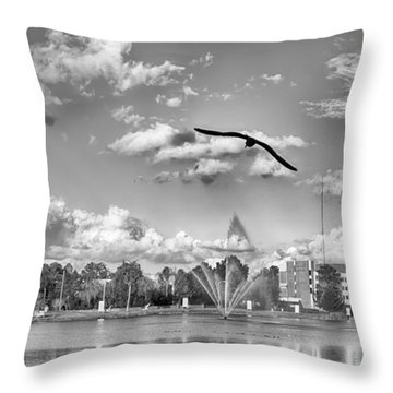 The Gull Throw Pillow by Howard Salmon